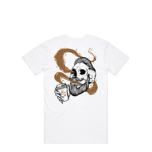 Death By Coffee White T-Shirt | Hard Grind