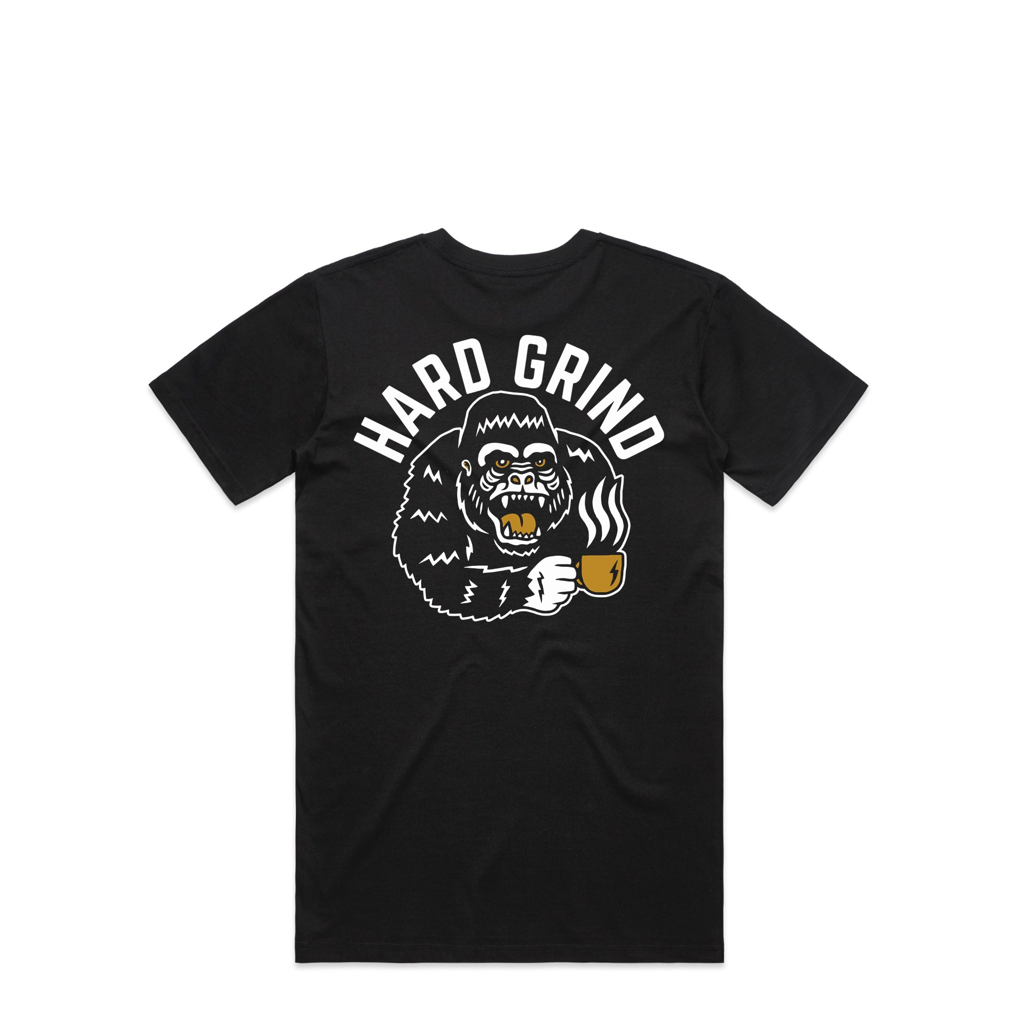 Gorilla Black T-Shirt | Hard Grind