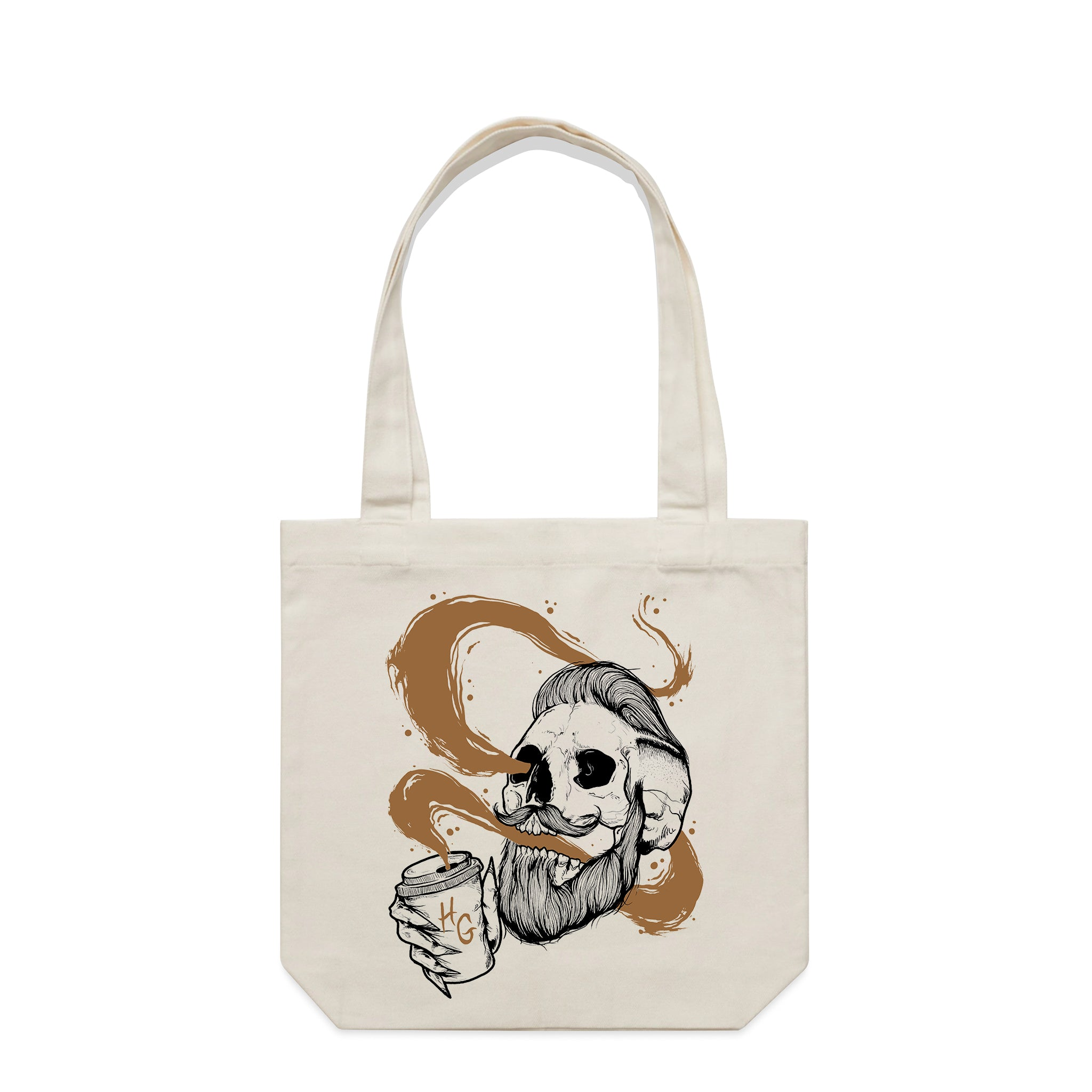 Death By Coffee Natural Tote Bag | Hard Grind
