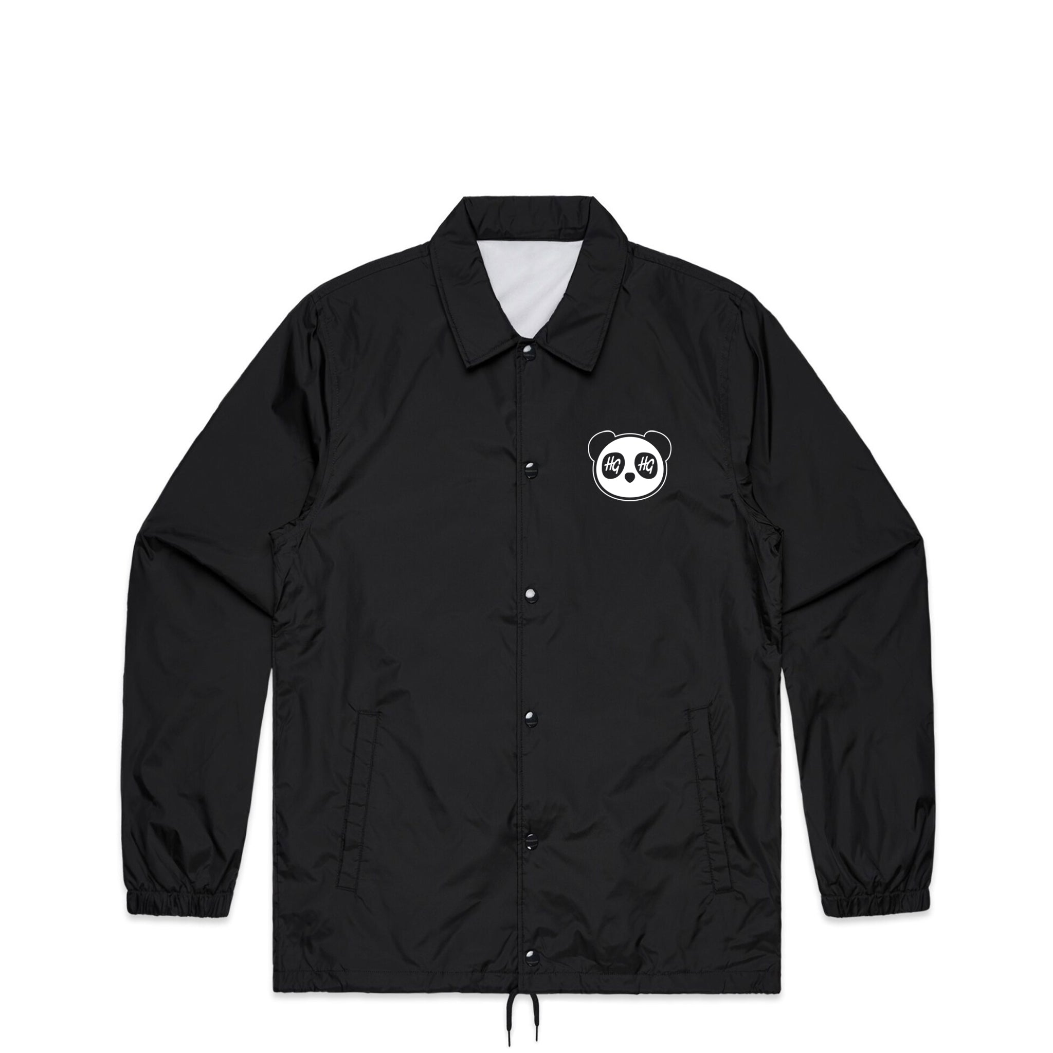 HG x DRARE Panda Black Coach Jacket | Hard Grind
