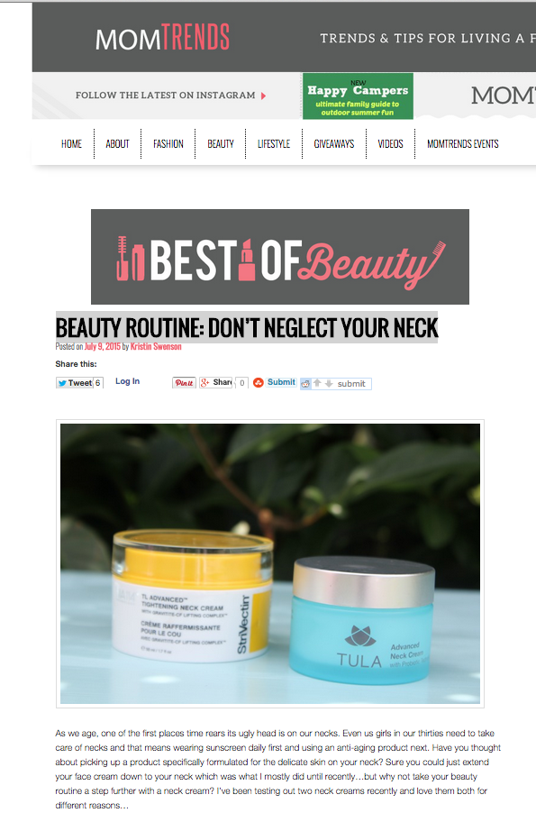 Beauty Routine: Don't Neglect Your Neck - MomTrends