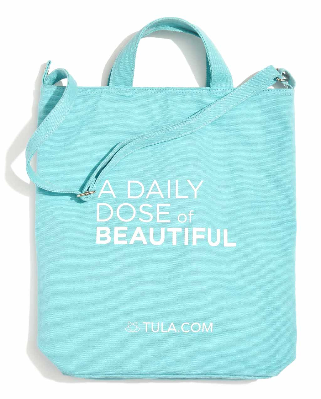 A Daily Dose of Beautiful Canvas Tote - TULA Skincare