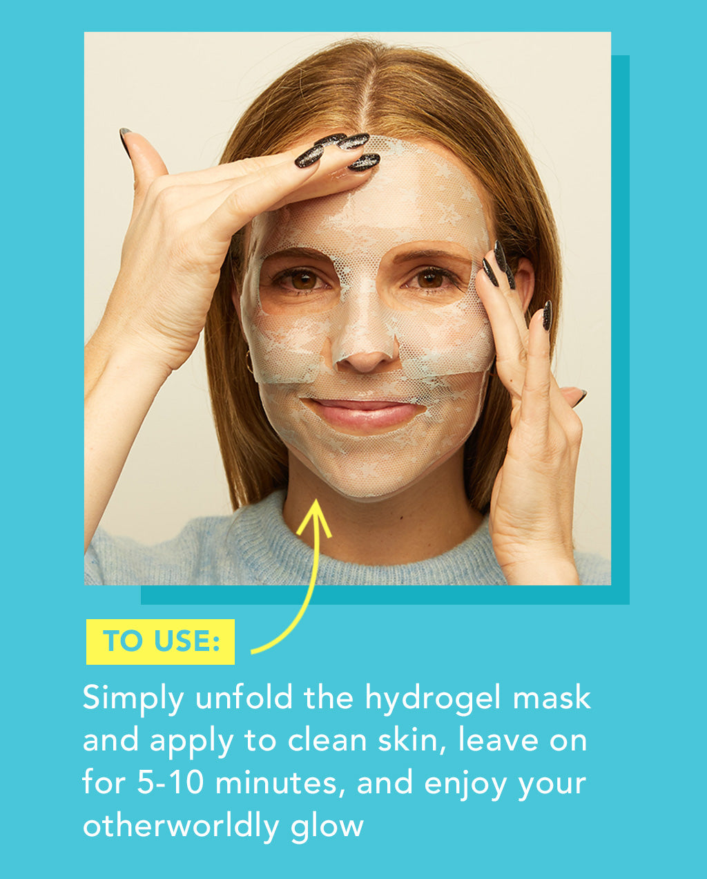 nourishing & brightening hydrogel mask
