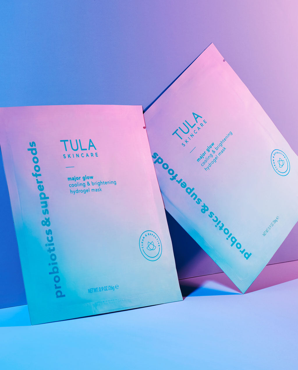 cooling & brightening hydrogel mask