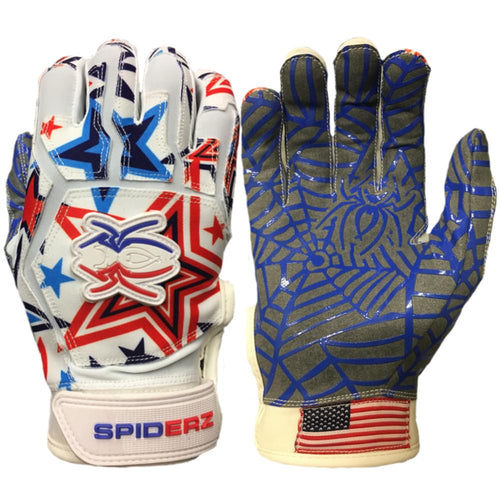 SPIDERZ WEB BATTING GLOVES - USA Star