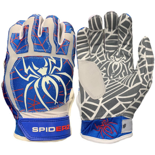 Spiderz Batting Gloves - WEB Royal/Red/White