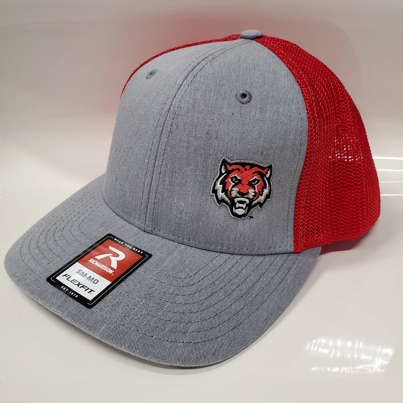 ADM Tigers Flexfit Mesh - Heather Gray/Red