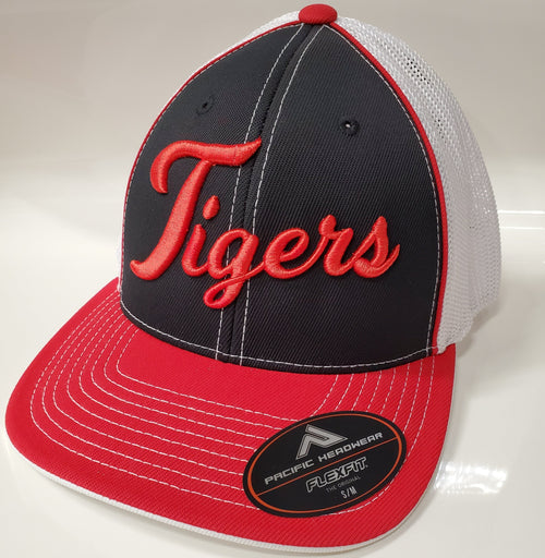 ADM Tigers Hat - Black/Red/White