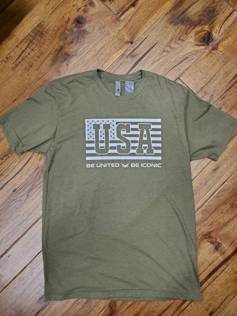 Be United Iconic Tee (Army Green)