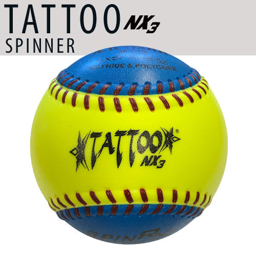 "TATTOO NX3 12"" Spinners (52 COR/300 LBS) Batting Practice Softball"