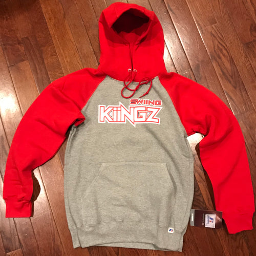 Swiing Kiingz Color Block Hoodie - Red