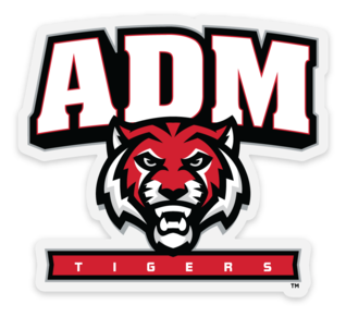 ADM Tigers (Tiger Face) Transparent Front Adhesive Sticker