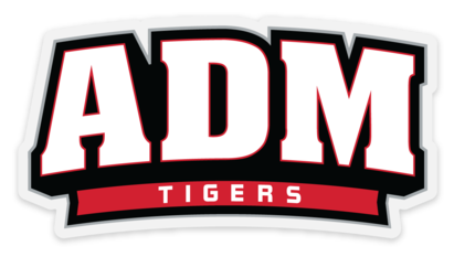 ADM Tigers (Arched ADM) Transparent Front Adhesive Sticker