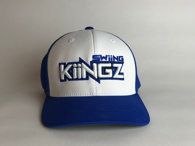 Swiing Kiingz Perforated Performance Hat - Royal and White