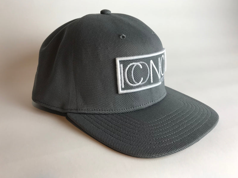Iconic Seamless Flatbill Hat- Graphite