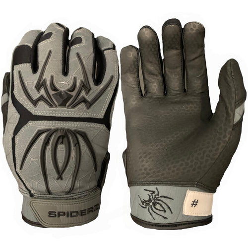 SPIDERZ ENDITE BATTING GLOVES - DARK GREY/BLACK 2020