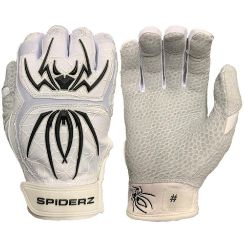 SPIDERZ ENDITE BATTING GLOVES - WHITE/BLACK/GREY 2020