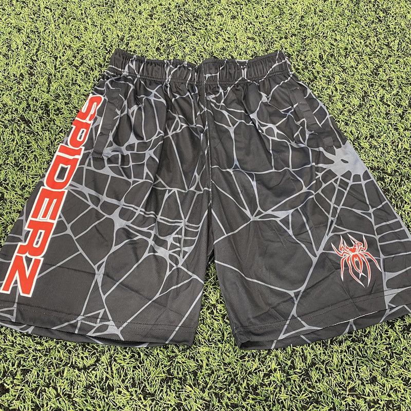 SPIDERZ SUPER MICRO MESH BP SHORTS - BLACK/RED