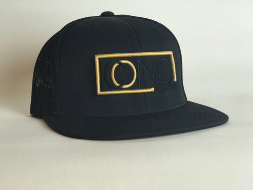 Iconic Flatbill - Black/Gold