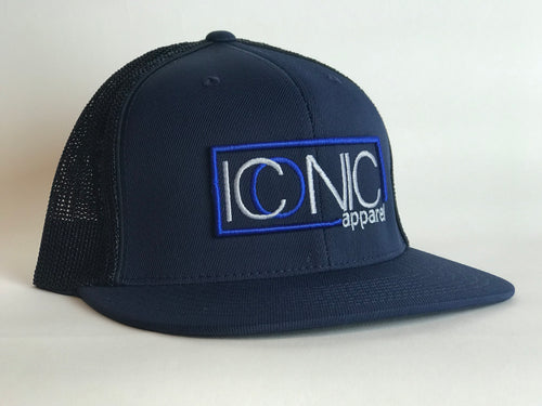 Iconic Flatbill - Navy/Royal