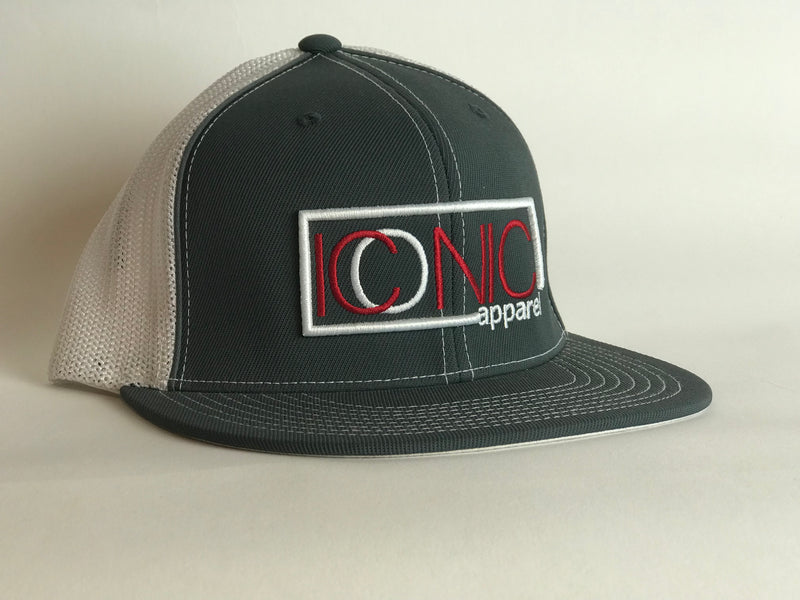 Iconic Flatbill - Graphite/Red/White