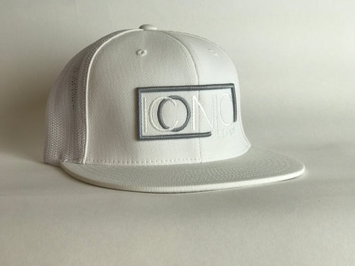 Iconic Flatbill - White/Silver