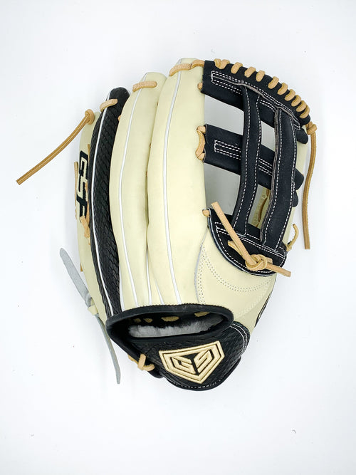 "GS Sports Pro Series 13.5"" H-Web Ball Glove - Blonde with Black Snakeskin"