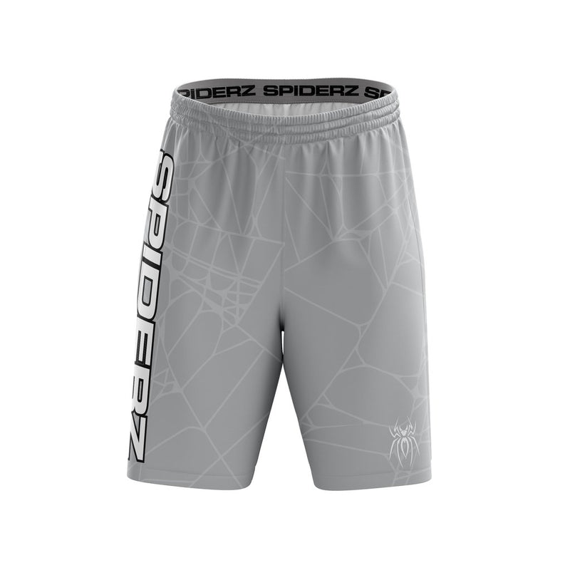 SPIDERZ SUPER MICRO MESH BP SHORTS - SILVER/WHITE/BLACK