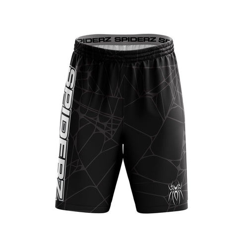 SPIDERZ SUPER MICRO MESH BP SHORTS - BLACK/SILVER/WHITE