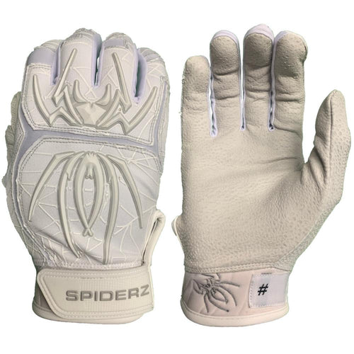 SPIDERZ ENDITE BATTING GLOVES - WHITE/GREY 2020