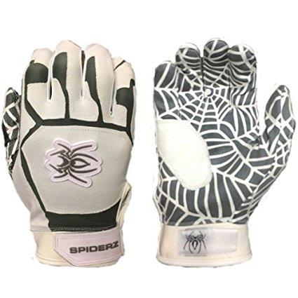 SPIDERZ WEB BATTING GLOVES - White/Grey