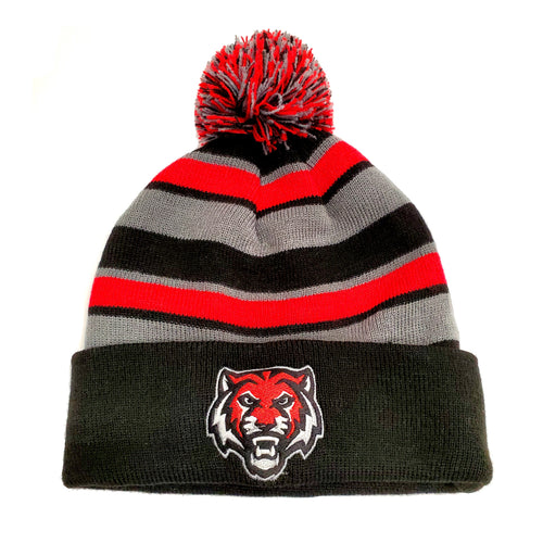 ADM Tigers Stripe Pom Stocking Hat