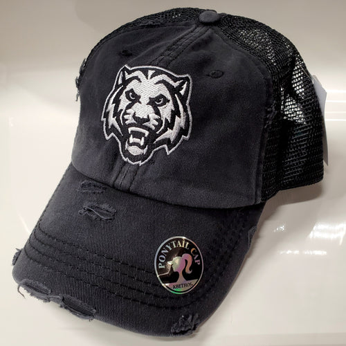 ADM Tigers Ponytail Adjustable Hat
