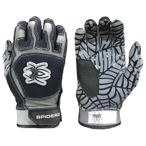 SPIDERZ WEB BATTING GLOVES - Black/Grey
