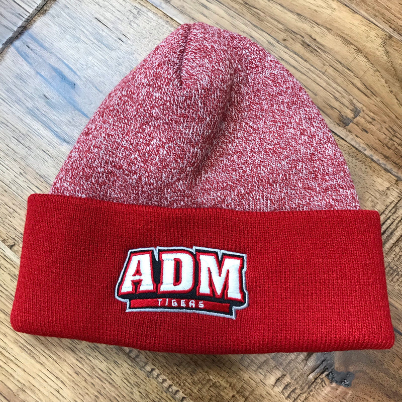 ADM Red Heather Cuff Beanie