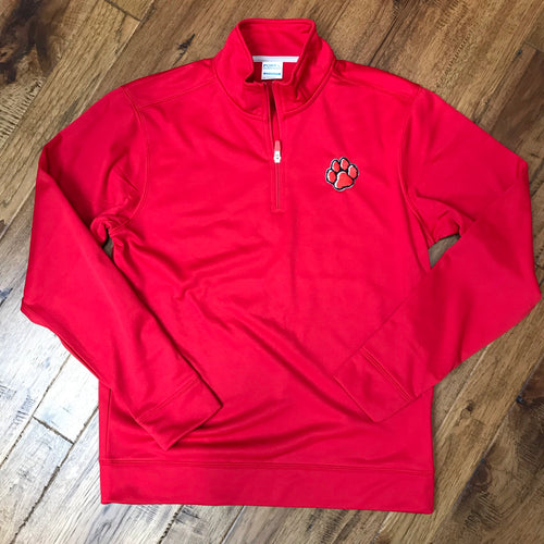ADM Tigers 1/4 Zip Performance Fleece Pullover - Tiger Paw Logo