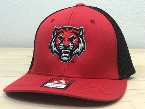 ADM Tigers Flexfit Mesh - Red/Black w/ADM Tiger Face logo