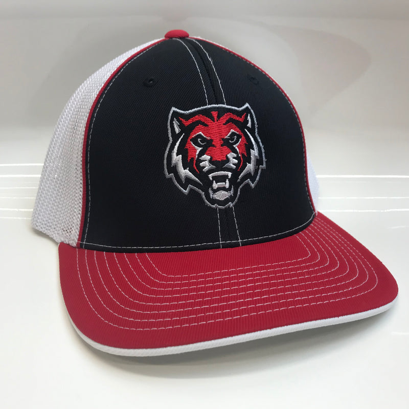 ADM Tigers Tiger Face Hat- Black/Red/White