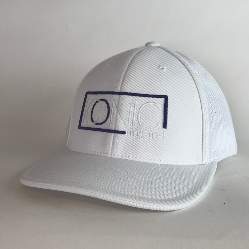 Iconic Hat- White/Purple