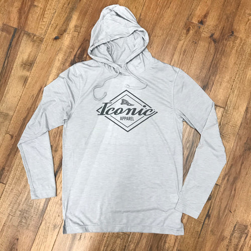 Tri-Blend Wicking Long Sleeve Hooded T-Shirt