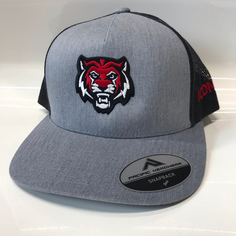 ADM Tigers Snapback - Heather w/Tigerhead logo