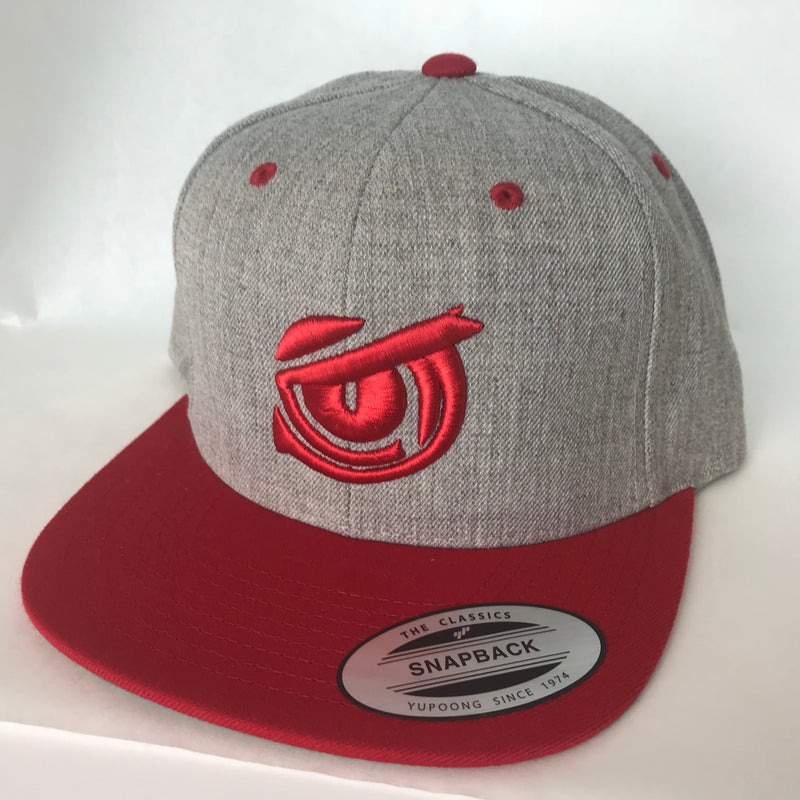 Iconic SnapBack Flat Bill - Owl Eye - Heather/Red