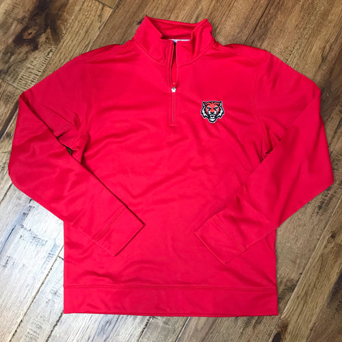 ADM Tigers 1/4 Zip Performance Fleece Pullover - Tiger Face Logo