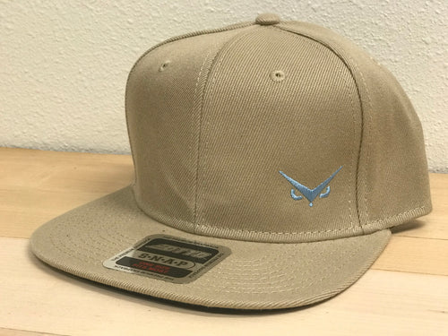 Iconic SnapBack - Khaki - Carolina Blue