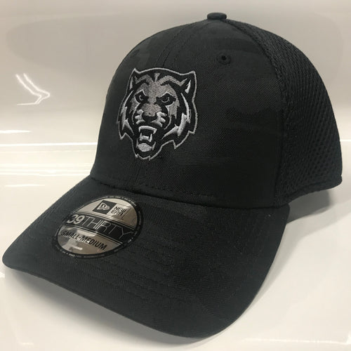 ADM Tigers Hat Flexfit Mesh back- Camo/Black w/Tiger Face logo