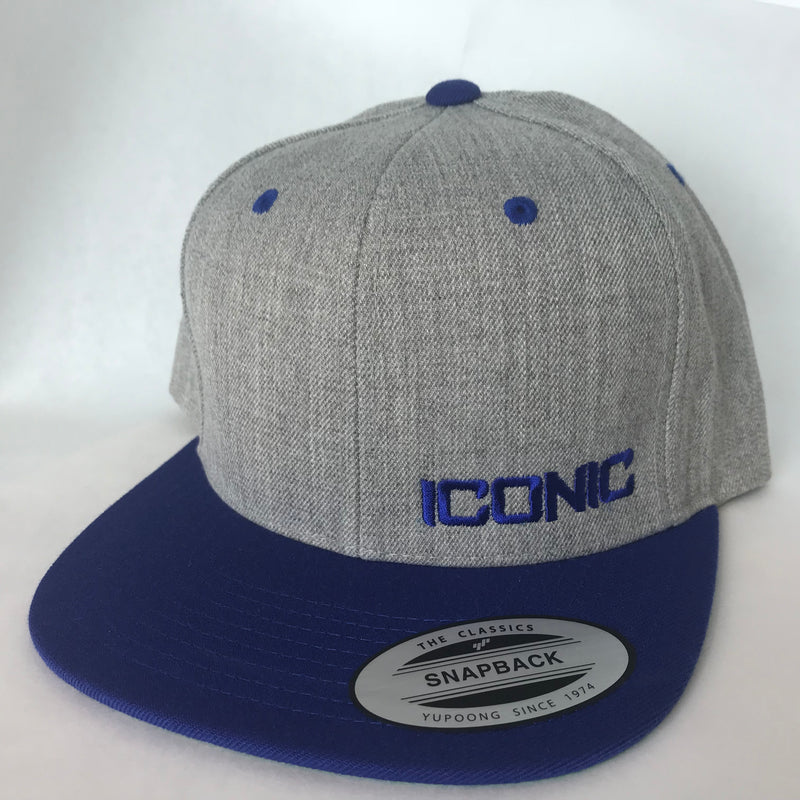 Iconic SnapBack - Heather/Royal