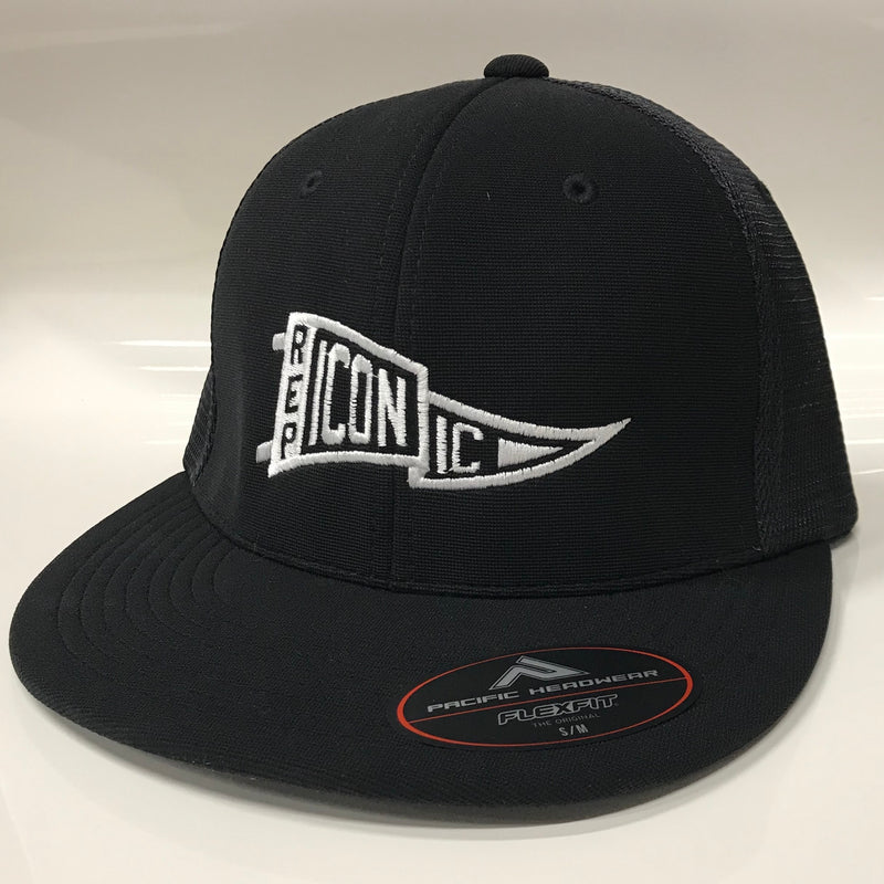 Iconic Performance Trucker Hat - Black/Black