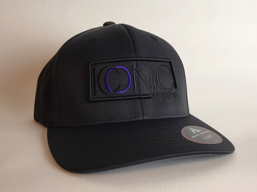 Iconic Perforated Performance Hat -Black/Purple