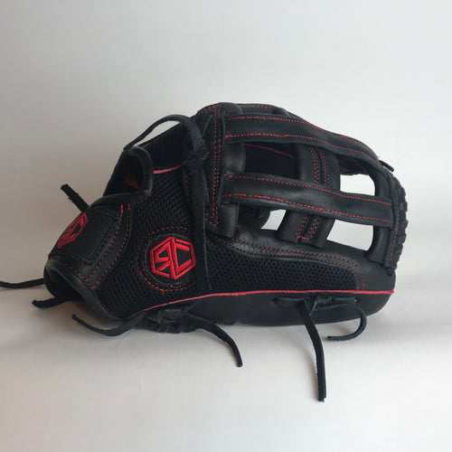"RC Fielding Glove - 13"" Black/Red"