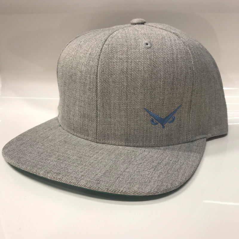 Iconic SnapBack - Light Grey Heather - Slate Blue